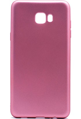 Case 4U Samsung Galaxy C7 Pro Mat Silikon Kılıf Premier Rose Gold
