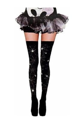 KullanAtMarket Halloween Örümcek Ağı Çorap