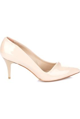 Pembe Potin Karemel Rugan Ayakkabı