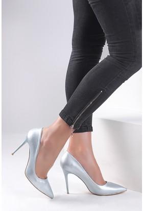 Pembe Potin Mavi Ayakkabı