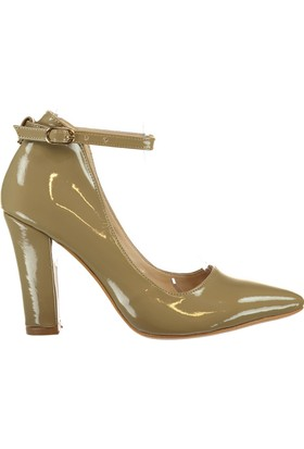 Pembe Potin Vizon Rugan Ayakkabı