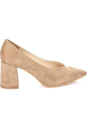Pembe Potin Vizon Nubuk Ayakkabı