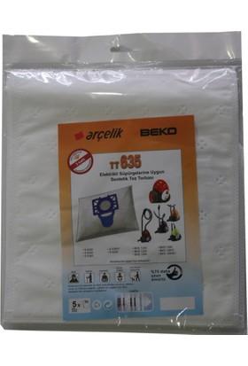 Arçelik S 6350 Elektrikli Süpürgeye Uygun Sentetik Toz Torbası