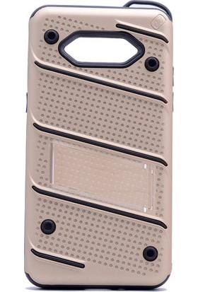 KNY Samsung Galaxy J2 Prime Kılıf Ultra Korumalı Standlı İron Case+Cam