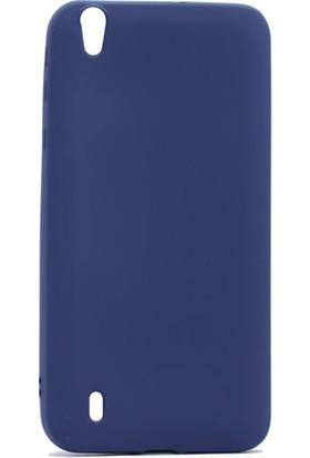 KNY Vestel Venus V3-5530 Kılıf Ultra İnce Mat Silikon+Cam