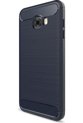 KNY Samsung Galaxy C7 Pro Kılıf Ultra Korumalı Room Silikon+Cam