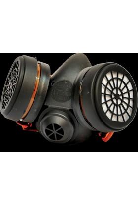 Yarım Yüz Maske Gaz Maskesi 755 Abek Kombine Filitreli