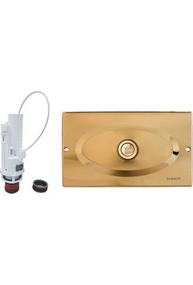 SIAMP® MANNESMANN Gömme Rezervuarı Universal Değişim/Tamir Takım Altın 12 cm Kalınlığında (Tüm Markalara Uyumlu)