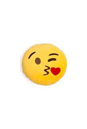 Kalpli Öpücük Emoji Yastık