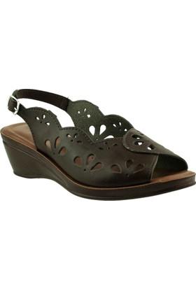 Muya 22128 On Acik Comfort Kahverengi Kadın Sandalet