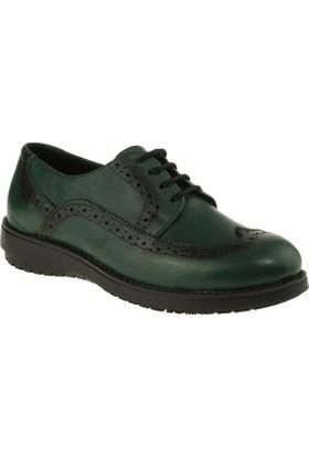Scavia 201 Bağli Casual Yeşil Kadın Ayakkabı