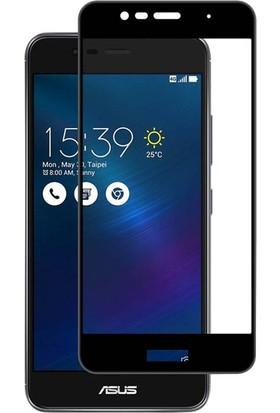 Microsonic Asus Zenfone 3 Max Tam Kaplayan Temperli Cam Ekran koruyucu Film Siyah
