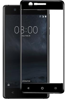Microsonic Nokia 3 Tam Kaplayan Temperli Cam Ekran koruyucu Film Siyah