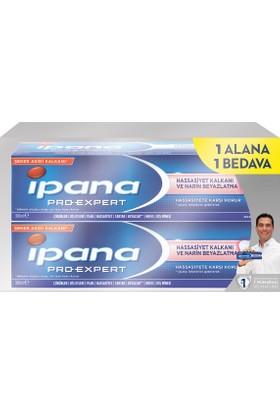 İpana Pro-Expert Diş Macunu Hassas Beyazlık Nane 1 Alana 1 Bedava Paketi (100 ml + 100 ml)