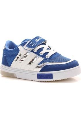 Minicup Mavi Beyaz Erkek Çocuk Spor Ayakkabı