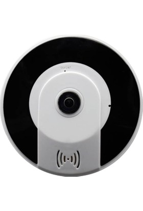 Taipien As-3605 Panoramik Tavan Kamerası 1080P, 360/180˚ P2P, Kayıt, Alarm, Wıfı,Ir