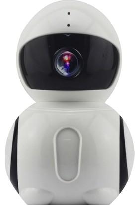 Taipien As-1804 Panoramik Stand Kamera 1080P 180 Derece P2P Kayıt Alarm Wıfı