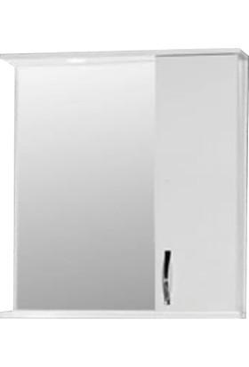 Hepsiburada Home Saydam Aynalı Üst Modül Mdf Banyo Dolabı 65 cm