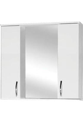 Hepsiburada Home Saydam Aynalı Üst Modül Mdf Banyo Dolabı 80 cm