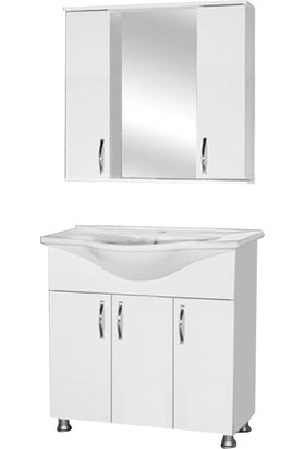 Hepsiburada Home Saydam Klasik 100 cm Mdf Banyo Dolabı Beyaz