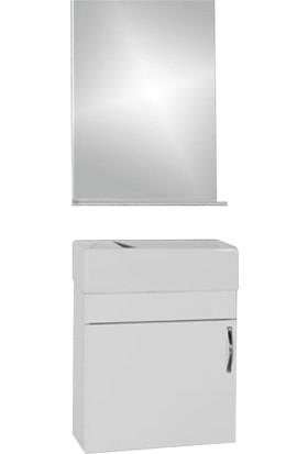 Hepsiburada Home Saydam Klasik 40 cm Mdf Banyo Dolabı Beyaz