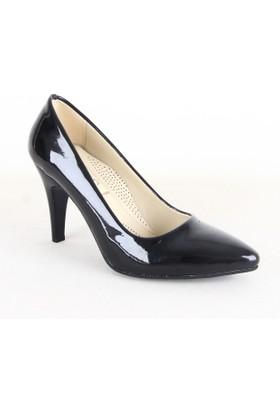 Faris 72 Bayan Rugan Stiletto Topuklu Ayakkabı Siyah