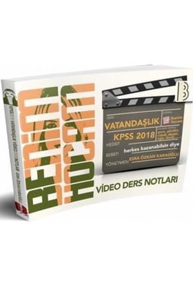 2018 Kpss Vatandaşlık Video Ders Notları Benim Hocam Yayınları