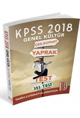 2018 Kpss Genel Kültür Çek Kopar Yaprak Test Benim Hocam Yayınları
