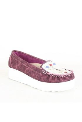 İlker Kundura Bayan Günlük Ayakkabı Bordo