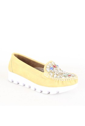 İlker Kundura Bayan Günlük Ayakkabı Sarı