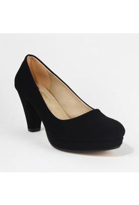Treks Tecer 61 Bayan Süet Topuklu Ayakkabı Siyah