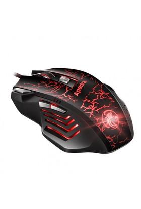 Power Kablolu Usb Işıklı Oyuncu Mouse 7 Tuşlu Oyun Optik Fare