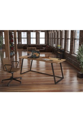 Endustriyel Mobilya Ihlamur Çalışma Masası 180 cm