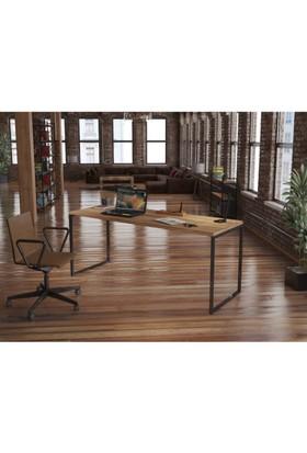 Endustriyel Mobilya Kivi Çalışma Masası 180 cm
