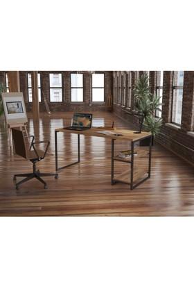 Endustriyel Mobilya Kızılcık Çalışma Masası 150 cm