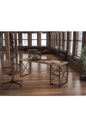 Endustriyel Mobilya Palmat Çalışma Masası 180Cm