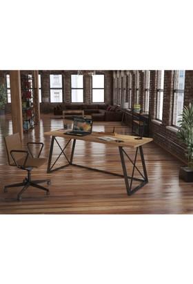 Endustriyel Mobilya Pendula Çalışma Masası 180 cm