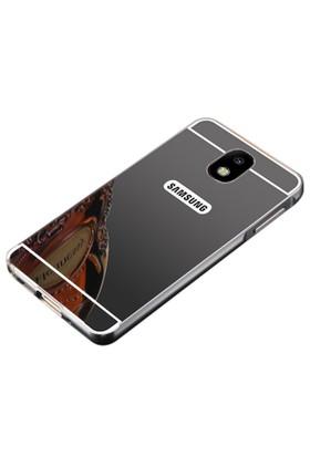 Teleplus Samsung Galaxy J7 2017 Aynalı Metal Kapak Kılıf
