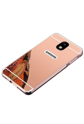 Teleplus Samsung Galaxy J7 Pro Aynalı Metal Kapak Kılıf