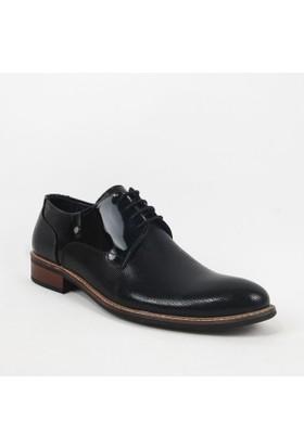 Armanc 366 Erkke Bağcıklı Klasik Ayakkabı Siyah