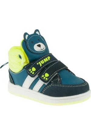 Jump 14146 İcik Kulakli Çift Cırt Yeşil Çocuk Ayakkabı