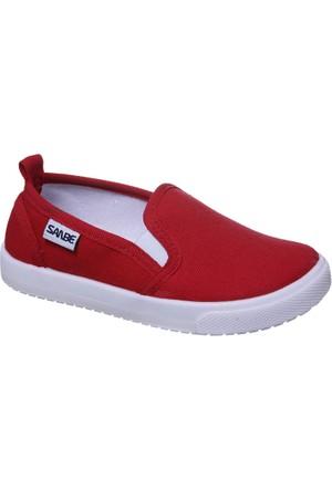 Sanbe Erkek Keten Ayakkabı Kırmızı