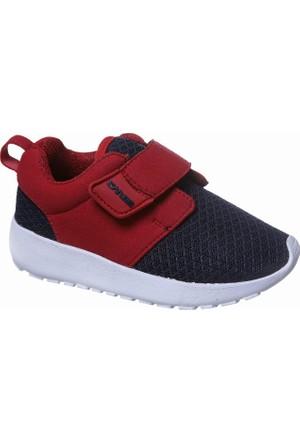 Sanbe Cırtlı Erkek Spor Ayakkabı Lacivert Kırmızı