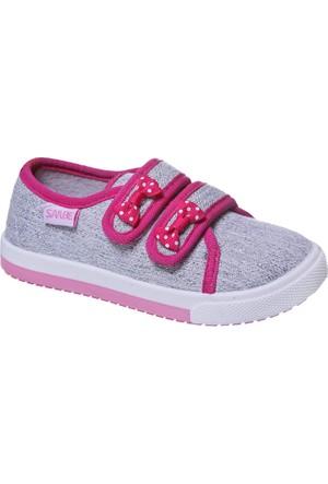 Sanbe Cırtlı Kız Keten Ayakkabı Lame