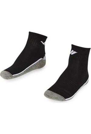 Lescon La-2193 Siyah Erkek Tenis Çorap 40-45 2'Li