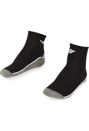 Lescon La-2194 Siyah Erkek Patik Çorap 40-45 2'Li