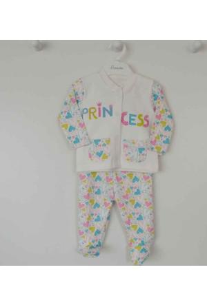Premom 1135A Kalpli Patikli 2'li Kız Bebek Takım
