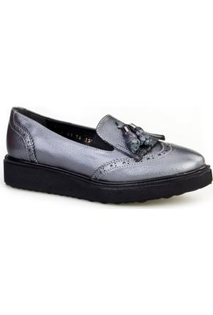 Cabani Püsküllü Günlük Kadın Ayakkabı Siyah