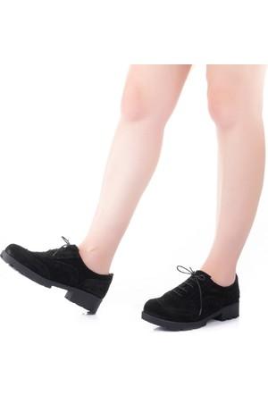 Modabuymus Fogli Siyah Süet Oxford Ayakkabı