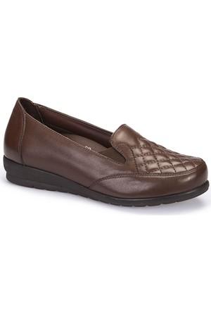 Polaris 5 Nokta 62.109066.Z Kahverengi Kadın Deri Ayakkabı